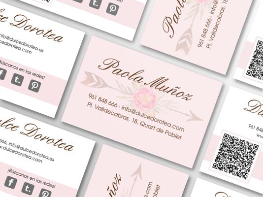Diseño de tarjetas de visita de Dulce Dorotea