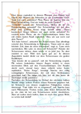 Der Schneekönig, Eine Silvestergeschichte mit einem Schneemann, Seite 2