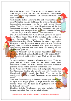 Das Erntedankfest, Eine Erntedankgeschichte für Kinder mit Wichteln, Seite 2