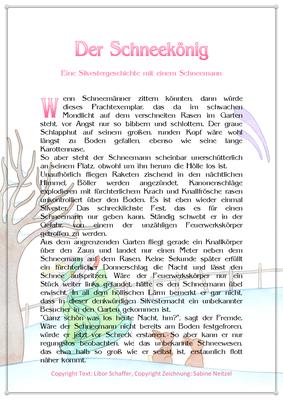 Der Schneekönig, Eine Silvestergeschichte mit einem Schneemann, Seite 1