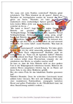 Hubertas Schuss geht nach hinten los, Eine Geschichte für Kinder zur Walpurgisnacht, Seite 2