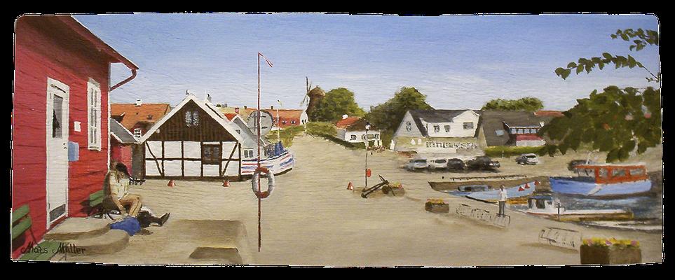 MatsMüller, Vikens hamn, 45x17cm