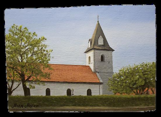 MatsMüller, Vikens kyrka, 27x19cm