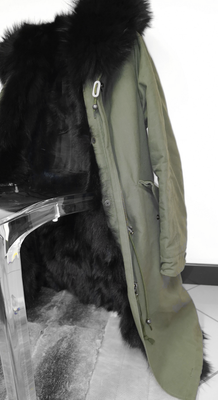 Parka in raccoon e volpe