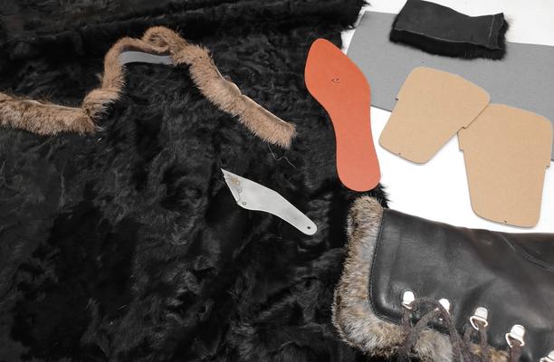 lavorazioni artigianali su dime e striscia in pelliccia