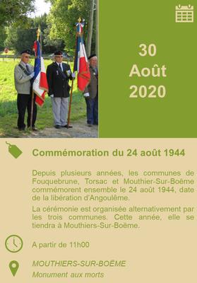 30/08/2020 - Commémorations du 24 août 1944