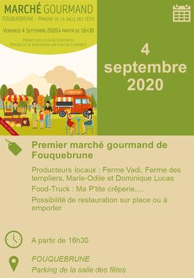 04/09/2020 - Premier marché gourmand de Fouquebrune