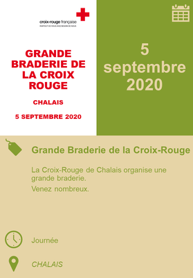 05/09/2020 - Grande Braderie de la Croix-Rouge