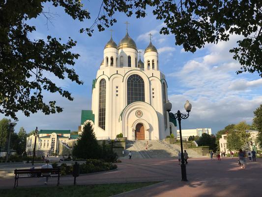 Die 73 m hohe Christ-Erlöser-Kathedrale ist Kaliningrads höchstes Gebäude