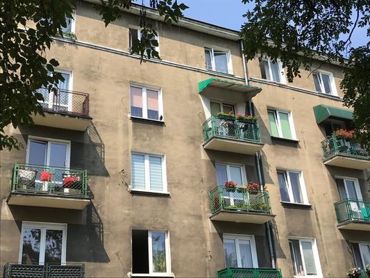 Wohnblockfassade in Kalisz