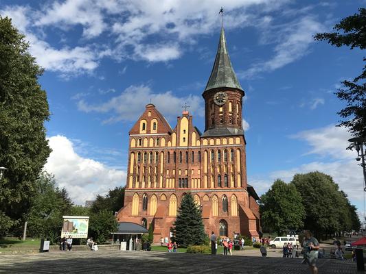 Kaliningrader Dom. Das Grab des Philosophen Emanuel Kant liegt direkt am Dom.