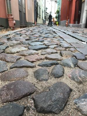 Riga: Kopfsteinpflastergasse