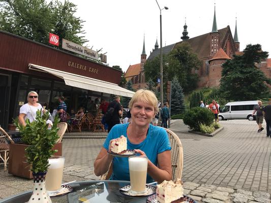 "Kaffeepause im Café ""Galerie"" im Wasserturm"