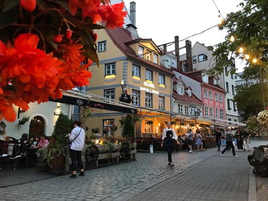 Riga: blaue Stunde