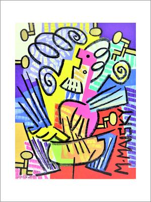 M.MAISKY-F6号(40.9x31)-キャンバスに油彩-2020-桜株ギャラリー九十九伸一館