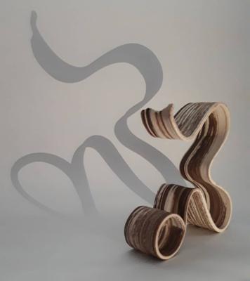 Calligraphy (2019), 35x32x8 cm