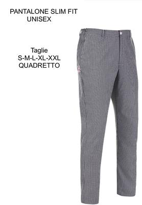 Ariell Divise da Lavoro pantalone slim quadretto Egochef