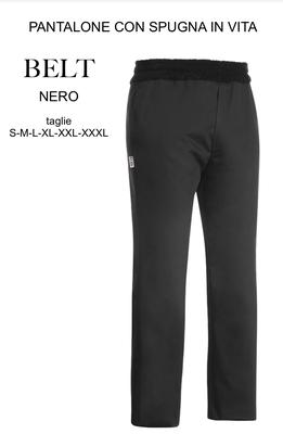 Ariell Divise da Lavoro pantalone nero con morbida spugna in vita Egochef