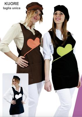 KUORE grembiule poncho schiena coperta taglia unica, colori a Tua scelta con il Tuo logo