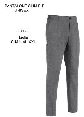Ariell Divise da Lavoro pantalone slim grigio Egochef