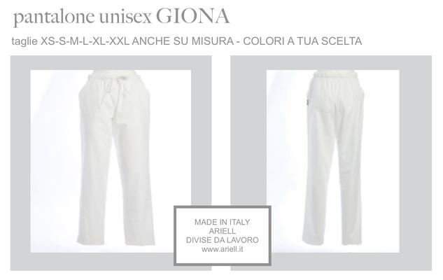 Ariell Divise da Lavoro pantalone Giona con elastico in vita Colori a tua scelta
