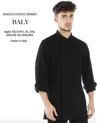 BALY giacca cuoco uomo, colori a Tua scelta, taglie dalla XS alla XXL anche su misura con il Tuo logo