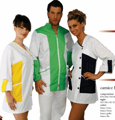 SELENE casacca donna - GIULIO casacca uomo - manica lunga o corta a scelta - taglie xs / xxl - colori a scelta