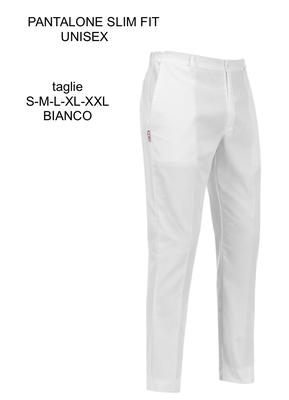 Ariell Divise da Lavoro pantalone slim bianco Egochef