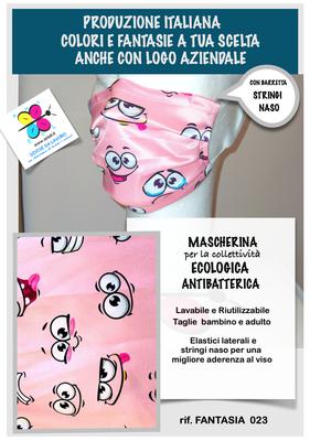 Mascherina adulto e bambino tessuto antibatterico antigoccia lavabile e riutilizzabile