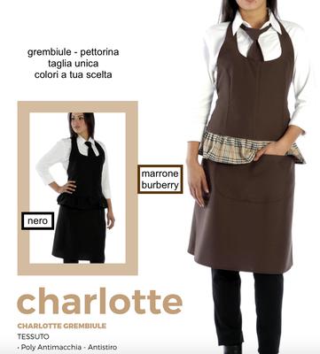 CHARLOTTE grembiule pettorina donna colori a Tua scelta con il Tuo logo