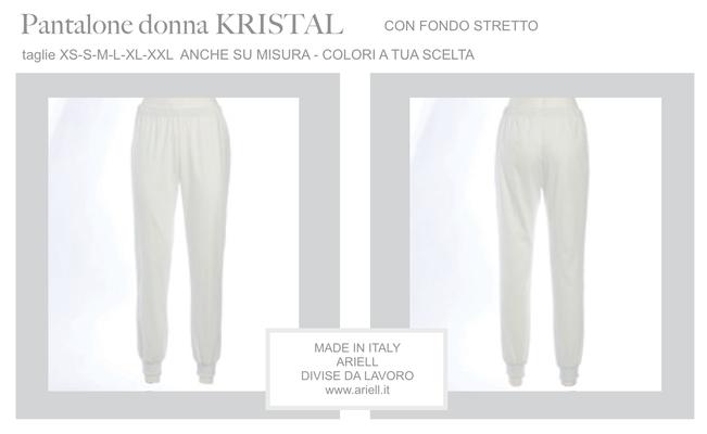 Ariell Divise da Lavoro pantalone Kristal con elastico in vita e polso fondo gamba Colori a tua scelta