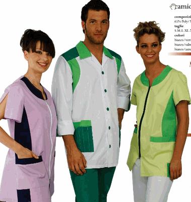 GERARD casacca uomo - SILVIA casacca donna - manica lunga o corta a scelta - taglie xs / xxl - colori a scelta anche su misura