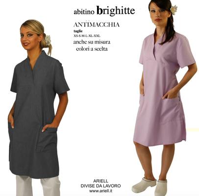 Ariell divise da lavoro BRIGITTE abitino intero collo a V anche su misura Made in Italy