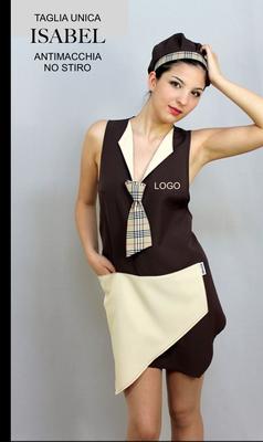 ISABEL grembiule poncho schiena coperta taglia unica, colori a Tua scelta con il Tuo logo