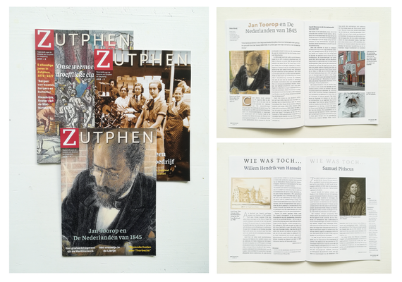 Magazine Zutphen. In 2019 kreeg het tijdschrift een nieuw uiterlijk. Ondersteuning opmaak 2020