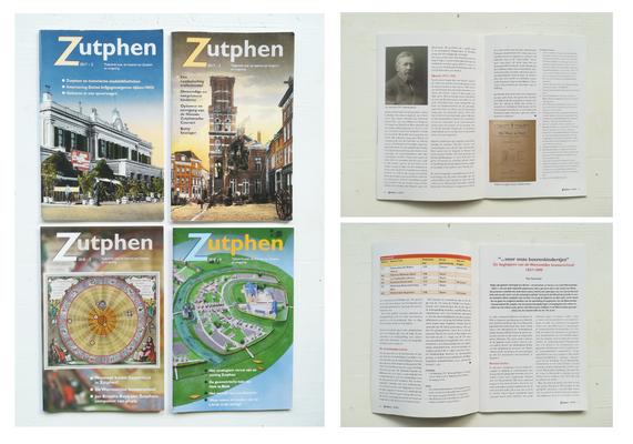 Zutphen, een magazine over de geschiedenis van de Hanzestad Zutphen. Ondersteuning opmaak voor jaargang 2017 en 2018