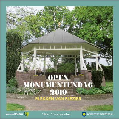 Brochure Open Monumentendag 2019, gemeente Rheden