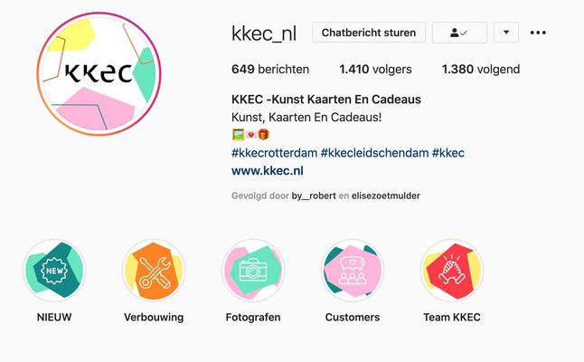 Beeldiconen voor KKEC, cadeauwinkel in Rotterdam en Leidschendam