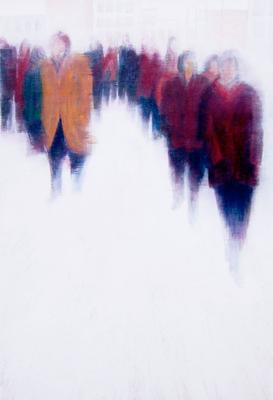Rush Hour llll, 50 x 100 cm, Acryl/ Mischtechnik