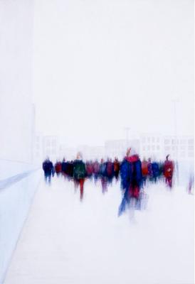 Rush Hour lll, 50 x 100 cm, Acryl/ Mischtechnik