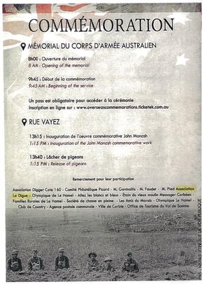 Centenaire Bataille Le Hamel-Centanery Battle Le Hamel- SommeBattlefieldsPartner-B&B-CASA Chambres d'hôtes-Val de Somme