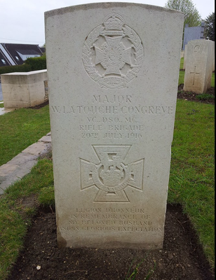 (DR) Major W.La Touche Congreve-Abbatiale-Corbie-Val de Somme-Longueval-Villers Bretonneux-Amiens-CASA Chambres d'hôtes-B&B-Guesthouse-WW1-Victoria cross