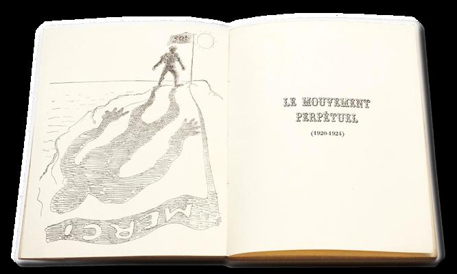 """Illustration du livre  """"Le mouvement perpétuel"""" d'Aragon par Max Morise (1926)"""