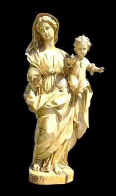 Vierge de Mazières - Sculpture bois (tilleul) de 1709 ou 1789 - sculpteur anonyme