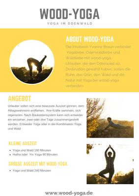kleine Auszeit Yoga und Wald oder große Auszeit Yoga und Wald im Odenwald