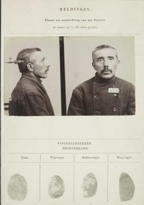 Signalementkaart Veenhuizen opname 09-09-1896