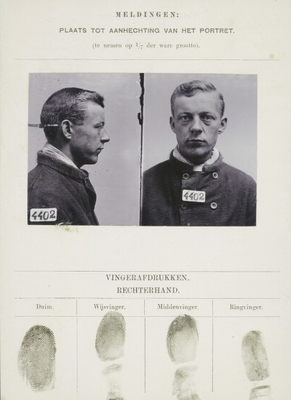 Signalementkaart Veenhuizen opname 1900