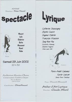 Sous la directiond e Claude Allard, de l'Opéra de Paris