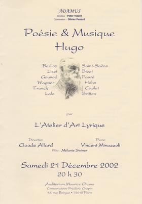 Sous la direction de Claude Allard, de l'Opéra de Paris