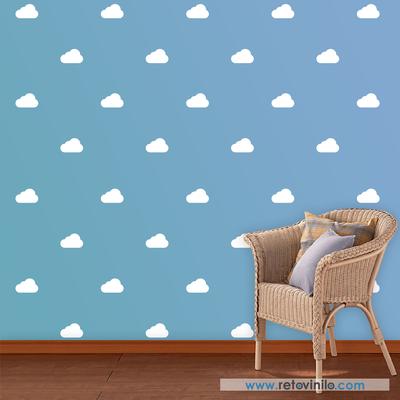 retovinilo, vinilos decorativos, minipack, nubes